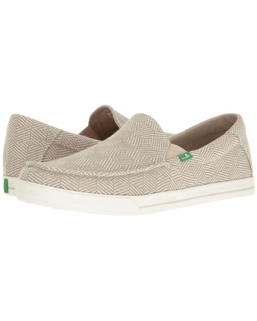 Sanuk | Natural Sideline Checked for Men | Lyst