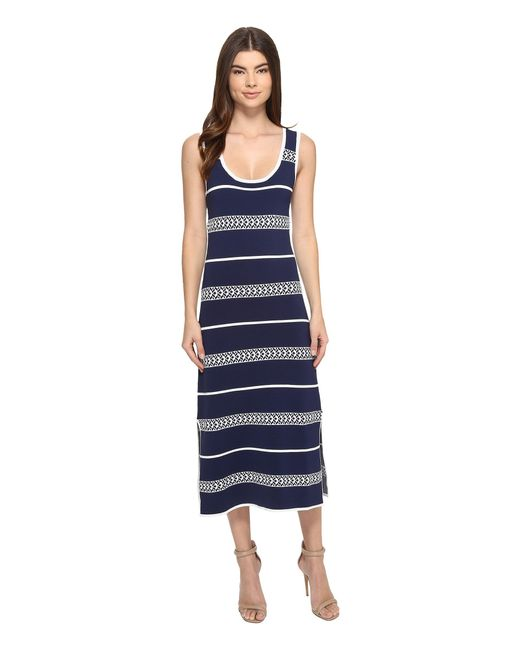 Laundry by shelli segal Midi Tank Sweater Dress in Blue | Lyst