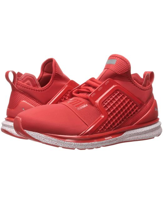 ... PUMA | Red Ignite Limitless Snow Splatter for Men | Lyst ...