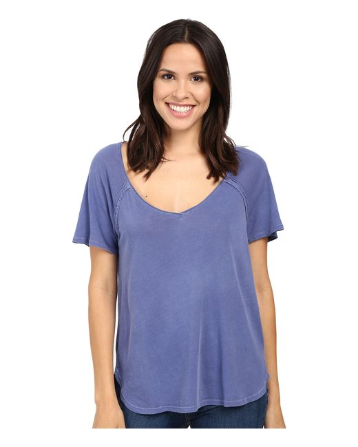 Splendid | Blue Vintage Whisper V-neck Tee | Lyst