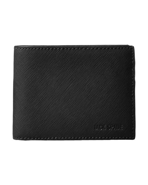 Jack Spade | Black Barrow Leather Slim Billfold for Men | Lyst