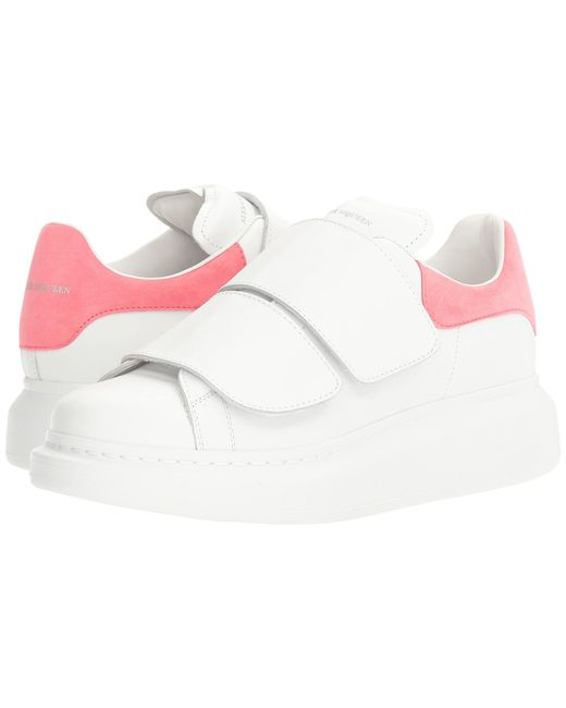 Alexander McQueen | White Hook And Loop Sneaker | Lyst