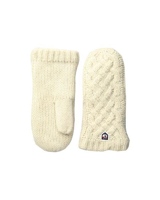 Hestra | White Freja Wool Mitt | Lyst