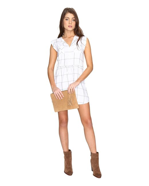 Jack BB Dakota   White Janis Plaid Dress   Lyst
