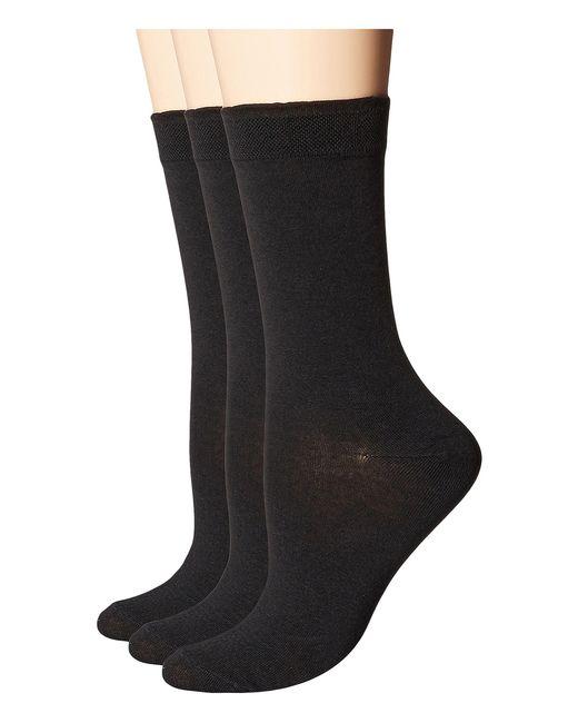Hue | Black Solid Femme Top Socks 3-pack for Men | Lyst