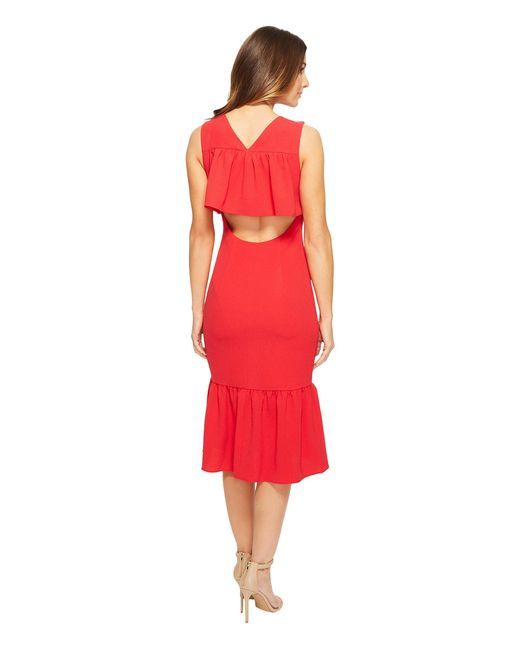 Adrianna Papell | Textured Crepe Drop Waist | Lyst