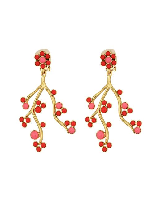Oscar de la Renta | Multicolor Cabochon And Crystal Vine C Earrings | Lyst
