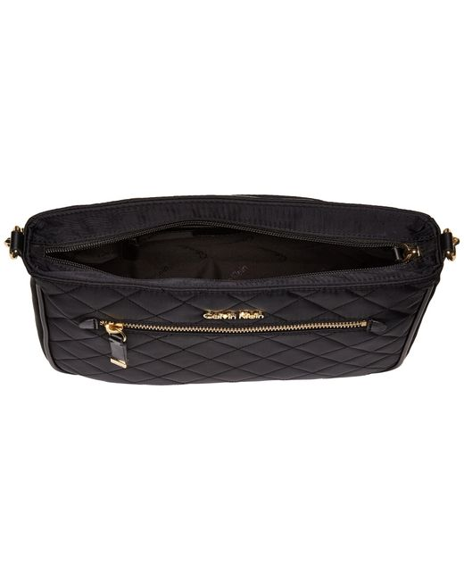 Calvin Klein Florence Quilted Nylon Crossbody In