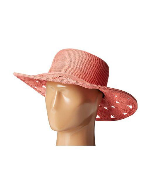 San Diego Hat Company   Pink Ubm4459 Ultrabraid Sun Brim Hat   Lyst