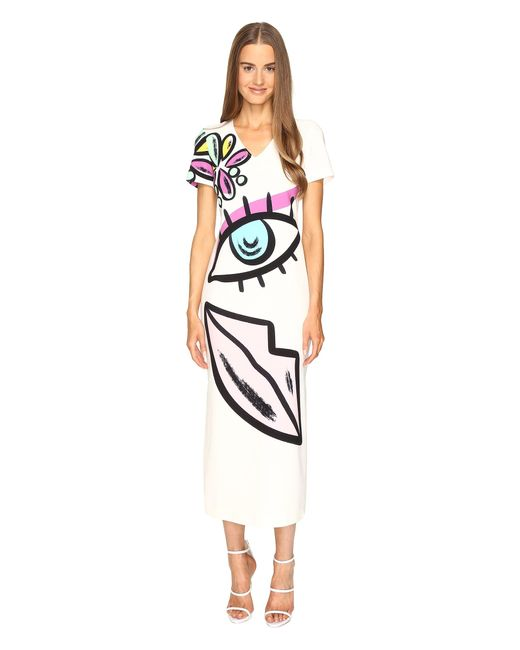 Boutique Moschino | White Face Print Tunic | Lyst