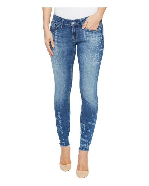 mavi jeans serena low rise ankle skinny in flower laser in. Black Bedroom Furniture Sets. Home Design Ideas