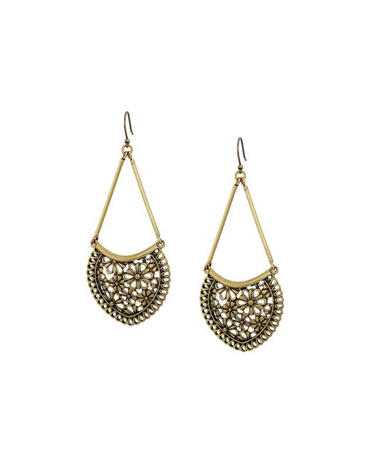 Lucky Brand | Metallic Lace Openwork Large Earrings | Lyst