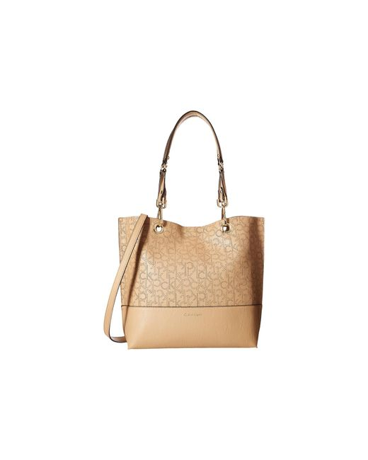Calvin Klein | Natural Unlined Tote | Lyst