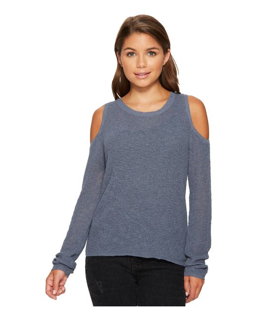 Roxy | Blue Unlimited Travel Cold Shoulder Sweater | Lyst
