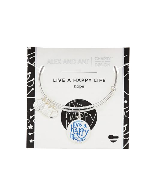 ALEX AND ANI | Multicolor Charity By Design Live A Happy Life Bangle - Joe Andruzzi Foundation | Lyst
