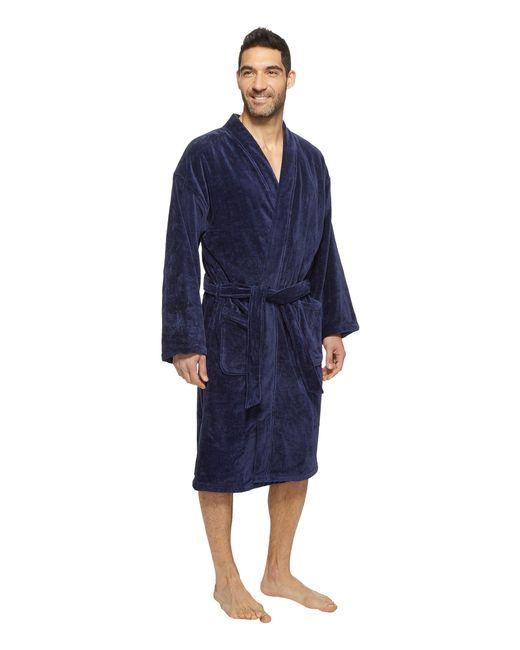 Polo ralph lauren Velour Kimono Robe in Blue for Men | Lyst