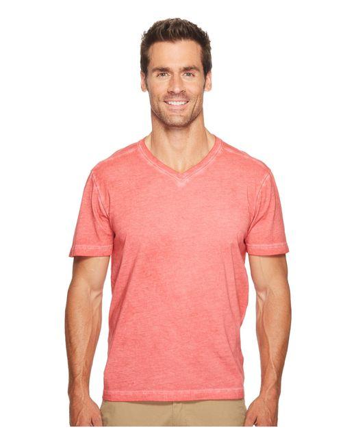 Agave | Pink Skipfry Short Sleeve V-neck Antique Wash for Men | Lyst