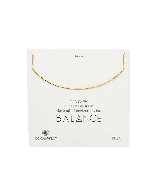 Dogeared   Metallic Balance Delicate Bar Choker Necklace   Lyst