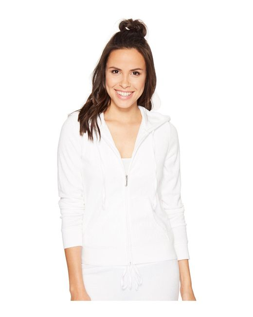 Juicy Couture | White Robertson Microterry Jacket | Lyst