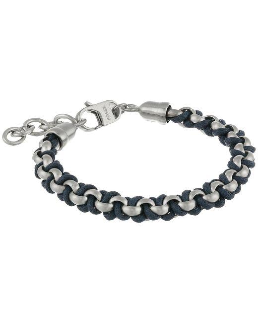 Fossil | Metallic Classic Cotton Cord Bracelet | Lyst