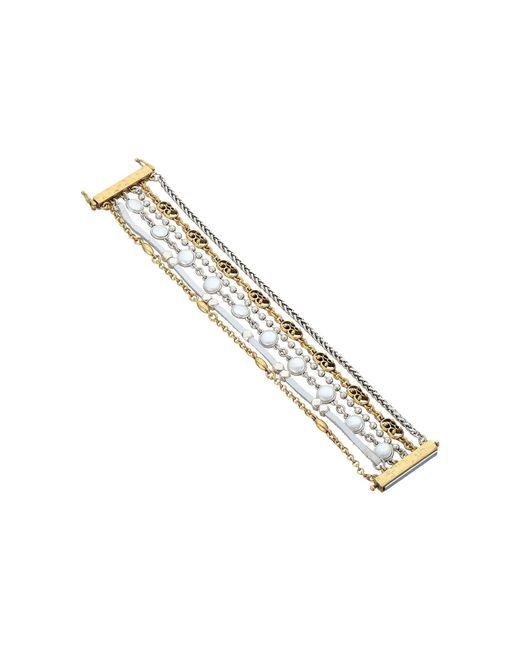 Lucky Brand | Metallic Pearl Lucky Layer Bracelet | Lyst