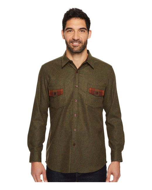 Pendleton | Green Contrast Shirt for Men | Lyst
