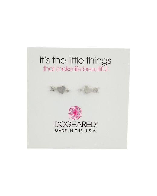 Dogeared   Metallic It's The Little Thing: Heart With Arrow Earrings   Lyst