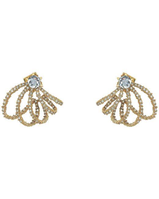 Alexis Bittar   Metallic Crystal Lace Orbiting Post Earrings   Lyst