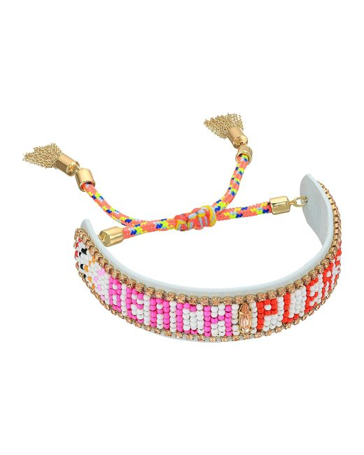 Rebecca Minkoff | Multicolor Beach Please Seed Beaded Friendship Bracelet | Lyst