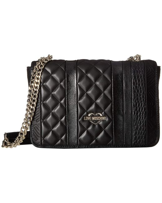Love Moschino - Fashion Stripes Quilted Shoulder Bag (white/black/gold/red) Shoulder Handbags - Lyst