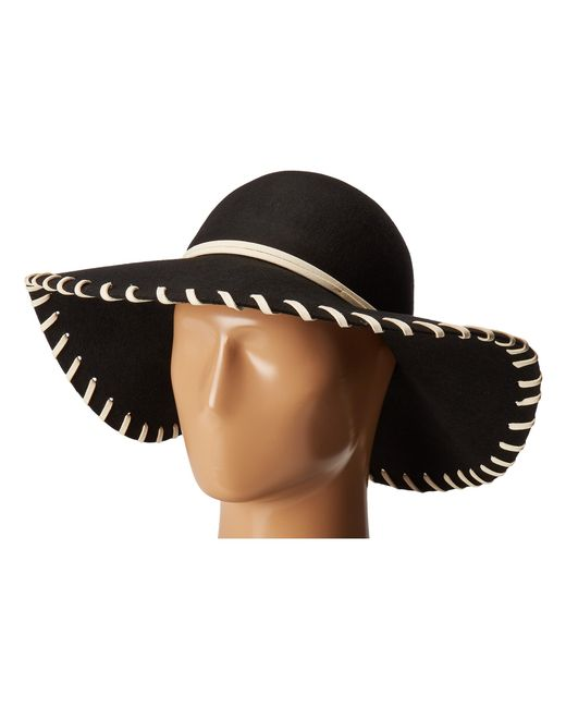 San Diego Hat Company   Black Wfh3548 Wool Floppy With Whip Stitch   Lyst