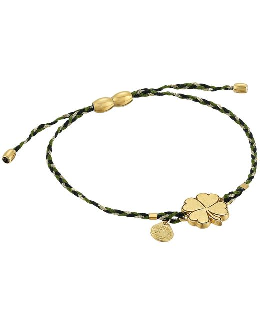 ALEX AND ANI | Metallic Precious Threads Four Leaf Clover Thicket Braid Bracelet | Lyst