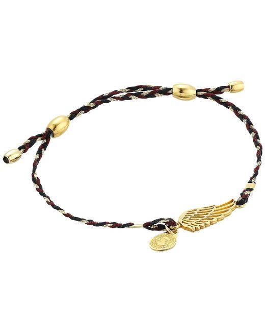 ALEX AND ANI | Metallic Precious Threads Wing Woodland Braid Bracelet | Lyst