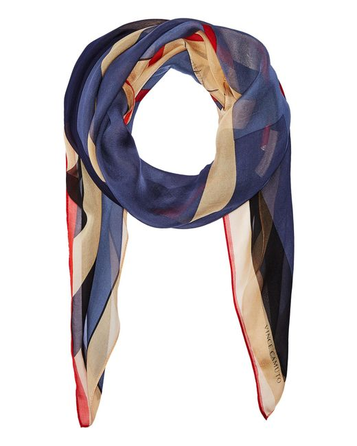 Vince Camuto | Blue Military Color Block Square Scarf | Lyst