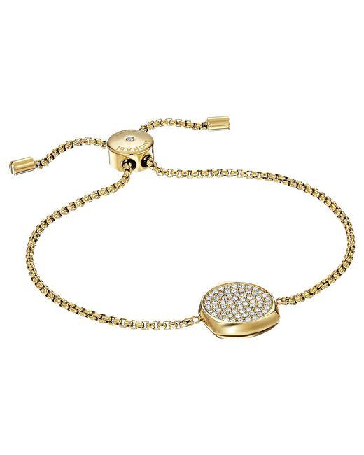 Michael Kors | Metallic Brilliance Slider Bracelet With Pave Disc | Lyst