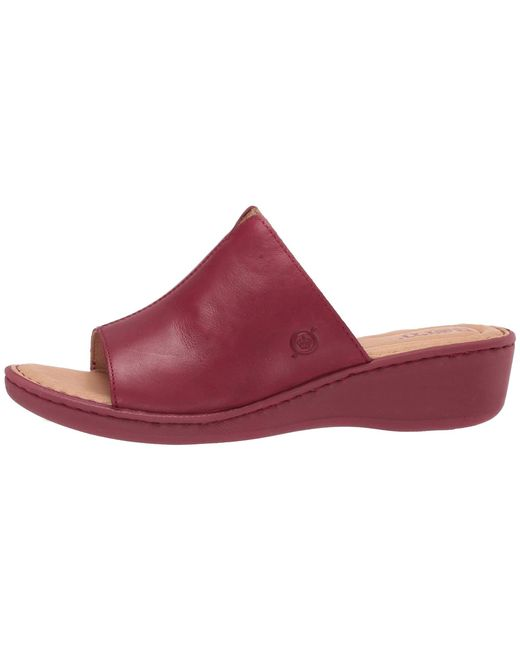 5ad5bbf167e9 Lyst - Born Bernt (red Full Grain Leather) Women s Wedge Shoes in Red