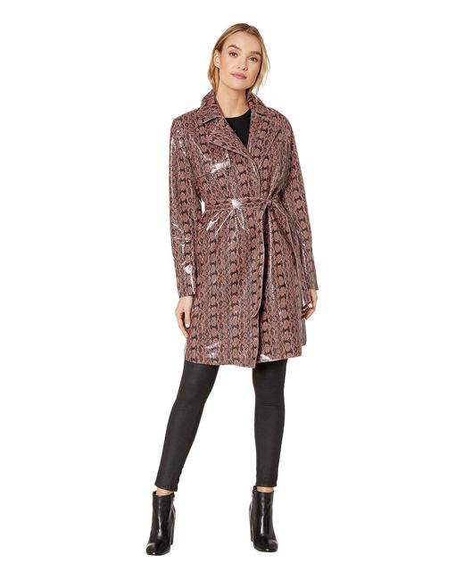 Blank NYC Multicolor Faux Snakeskin Trench Coat In Sneak Attack