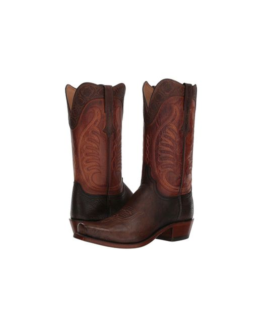Lucchese - Brown Slater (cigar Goat) Cowboy Boots for Men - Lyst