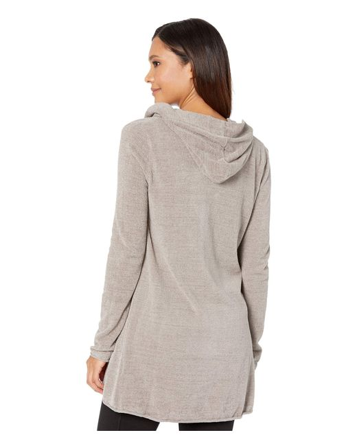 Barefoot Dreams Gray Cozychic Ultra Lite Hooded Cardi