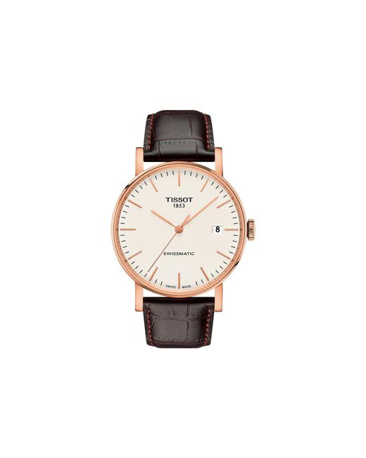 Tissot - Metallic Everytime Swissmatic - T1094073603100 (silver/brown) Watches for Men - Lyst