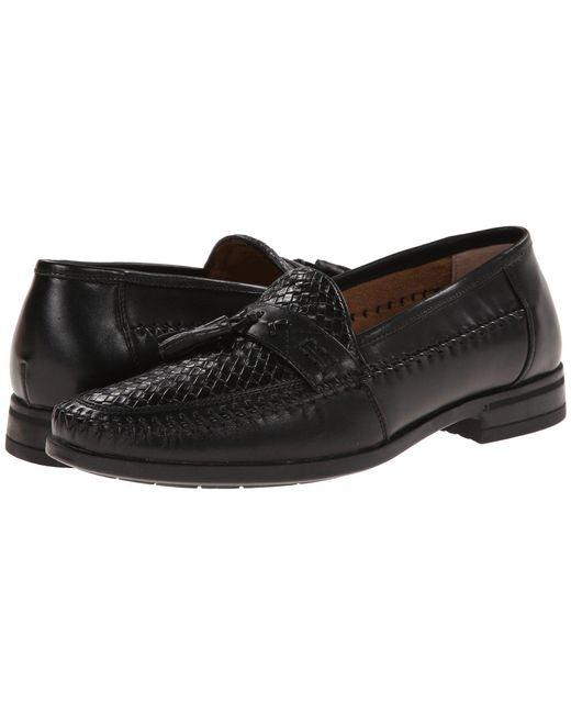 Nunn Bush - Strafford Woven Moc Toe Loafer (black) Men's Slip On Shoes for Men - Lyst