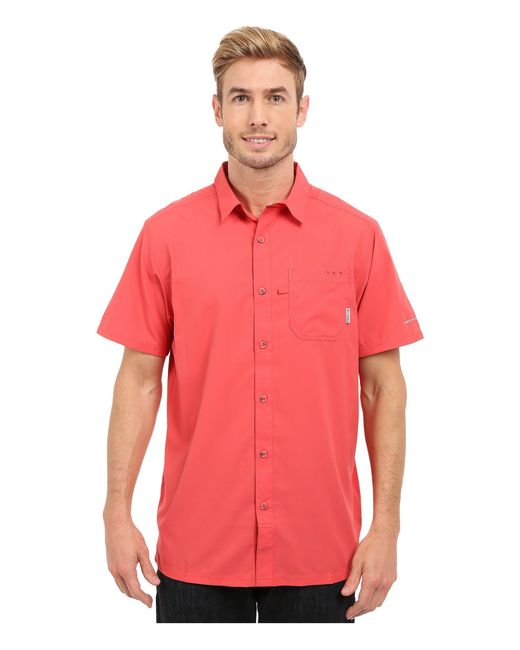 Columbia - Red Slack Tidetm Camp Shirt (gulf Stream) Men's Short Sleeve Button Up for Men - Lyst