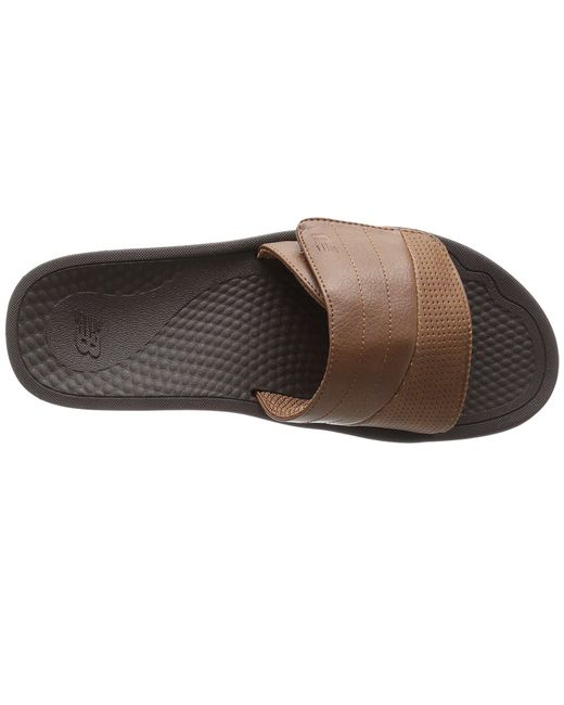 2a6b72ad5ae ... New Balance - Brown Purealign Recharge Slide (black grey) Men s Slide  Shoes for ...