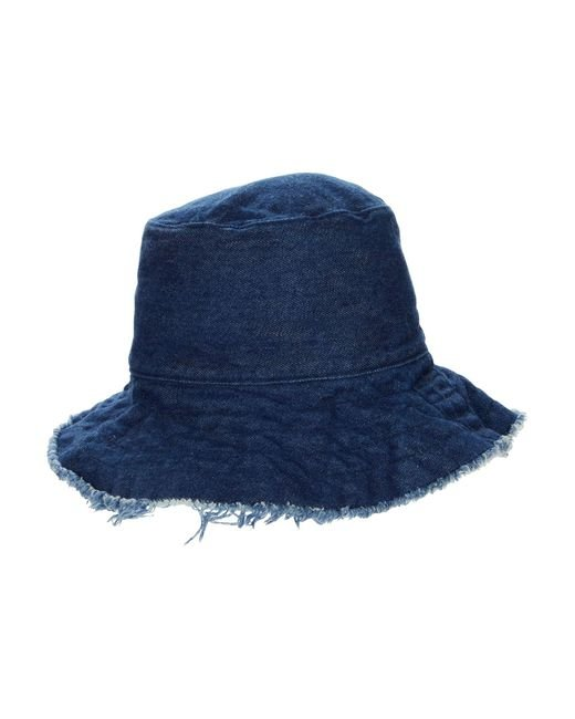 Hat Attack Blue Frayed Edge Crusher
