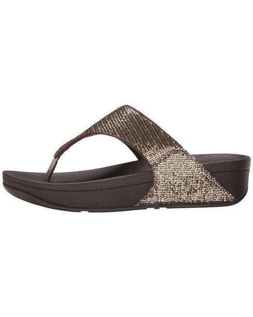 9f09b62a2131 Lyst - Fitflop Lulutm Superglitz (black) Women s Sandals in Brown