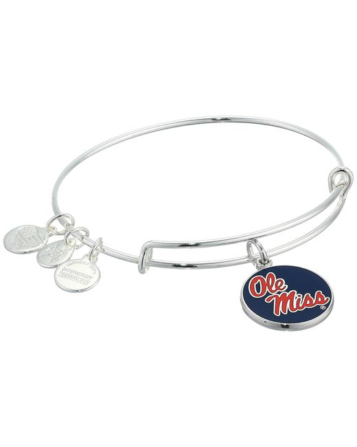 ALEX AND ANI Metallic Color Infusion, University Of Mississippi Charm Bangle