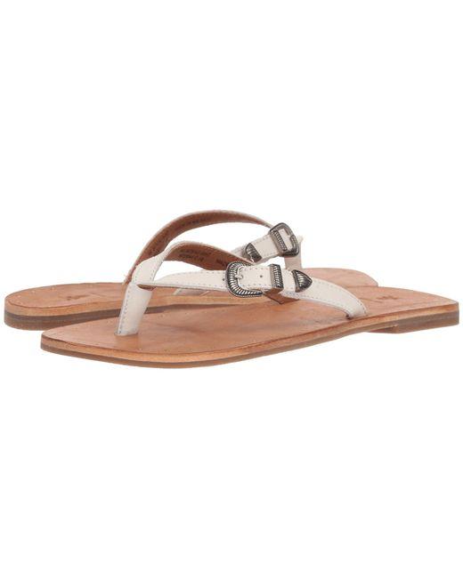 Frye - Ally Western Flip-flop (white) Women's Sandals - Lyst