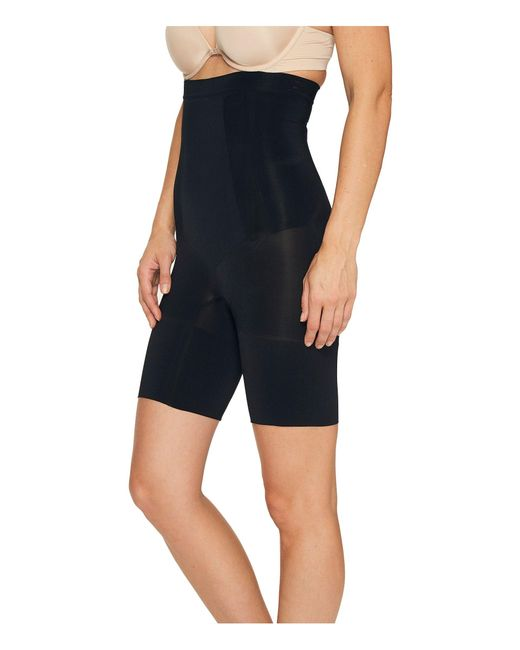 Spanx Black Oncore High-waisted Mid-thigh Short