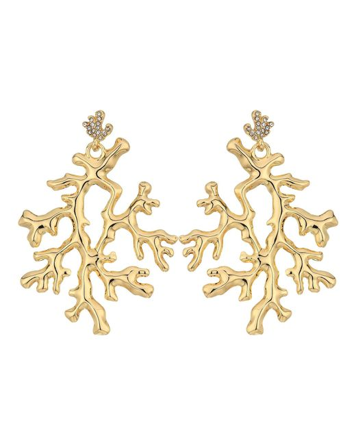 Lilly Pulitzer | Metallic Coral Reef Earrings | Lyst