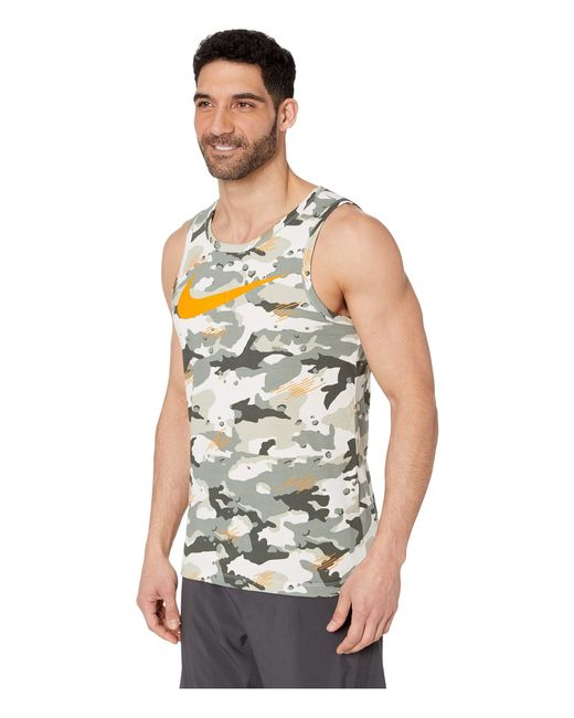9d7f6e5bb23f1 Nike Training Swoosh Logo Vest T Shirt Green in Green for Men - Save ...